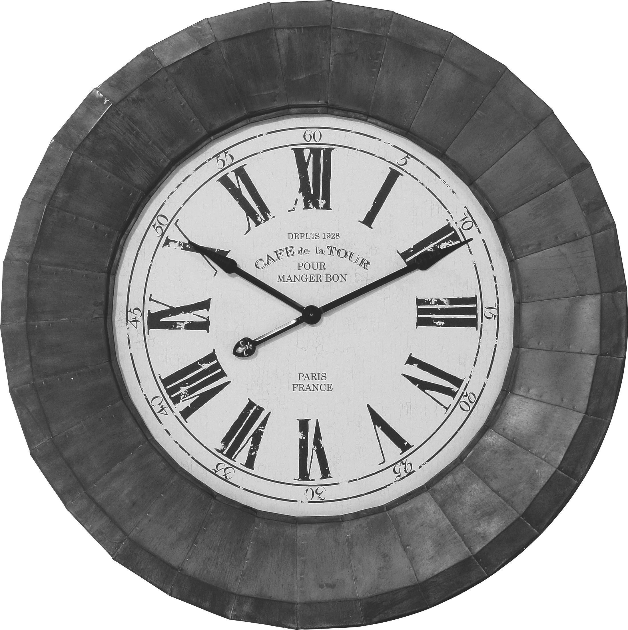 WANDUHR  Schwarz, Weiß - Schwarz/Weiß, Glas/Metall (113/113/10cm) - KARE-Design
