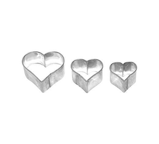 KEKSAUSSTECHFORM - Edelstahlfarben, Basics, Metall (4,5/2,2/4,5cm) - Birkmann