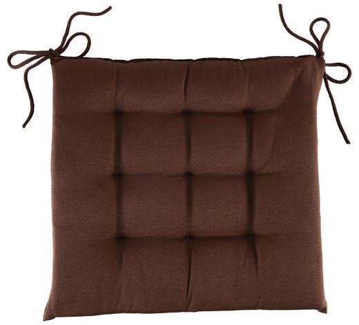 SITZKISSEN 40/40/4 cm  - Braun, Basics, Textil (40/40/4cm) - Boxxx