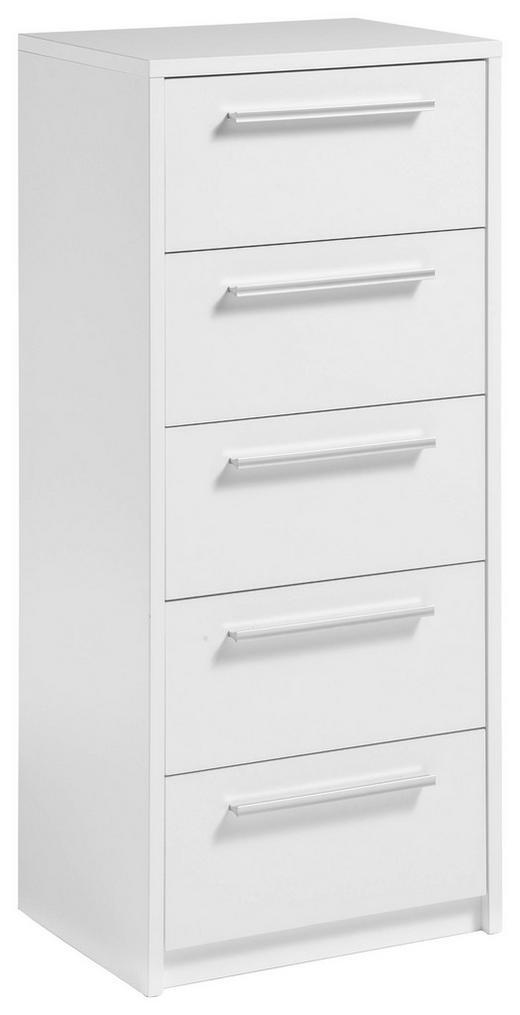 KOMMODE Weiß - Silberfarben/Weiß, KONVENTIONELL, Kunststoff (54/119/40cm) - Carryhome