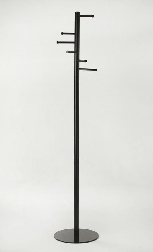 KLEIDERSTÄNDER Schwarz - Schwarz, Design, Metall (35/177/35cm)