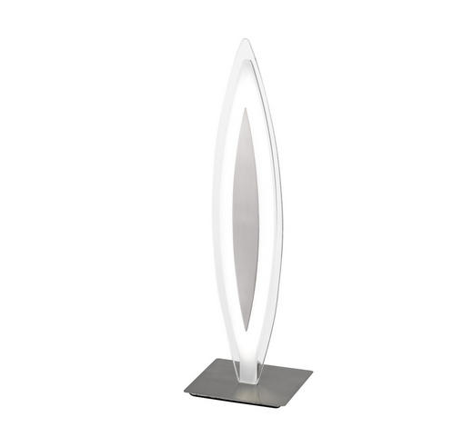 LED-TISCHLEUCHTE - Nickelfarben, Design, Glas/Metall (11/37,6/11cm)