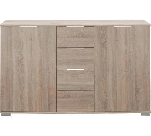 KOMMODE 130/83/41 cm  - Chromfarben/Eichefarben, Design, Holzwerkstoff/Kunststoff (130/83/41cm) - Carryhome