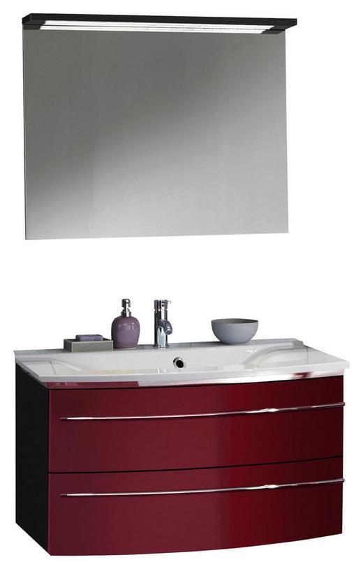BADEZIMMER Anthrazit, Rot - Anthrazit/Rot, Design, Stein (92,4cm) - Welnova