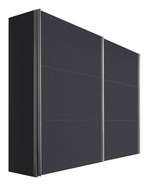 SCHWEBETÜRENSCHRANK 2-türig Graphitfarben - Graphitfarben/Alufarben, KONVENTIONELL, Holzwerkstoff/Metall (250/216/68cm) - Hom`in