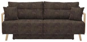 SCHLAFSOFA in Textil Braun  - Naturfarben/Braun, KONVENTIONELL, Holz/Textil (200/92/95cm) - Venda