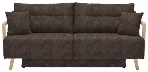 SCHLAFSOFA Lederlook Braun - Naturfarben/Braun, KONVENTIONELL, Holz/Textil (200/92/95cm) - Venda