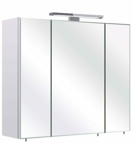 SPIEGELSCHRANK Weiß - Weiß, Design, Glas/Holzwerkstoff (70/60/20cm) - Xora