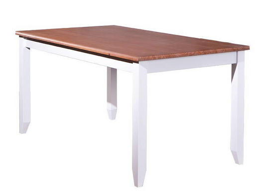 ESSTISCH Kiefer massiv Weiß - Weiß, LIFESTYLE, Holz (160/90/80cm) - Carryhome