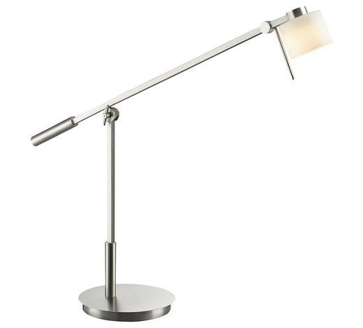 LED-TISCHLEUCHTE - Weiß/Nickelfarben, KONVENTIONELL, Glas/Metall (79,0/85,0cm)