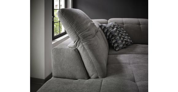 WOHNLANDSCHAFT in Textil Hellgrau  - Chromfarben/Hellgrau, Design, Textil/Metall (251/221cm) - Dieter Knoll