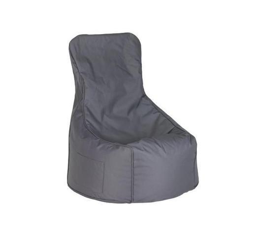 SEDACÍ PYTEL - antracitová, Design, textilie (85/100/85cm) - Boxxx