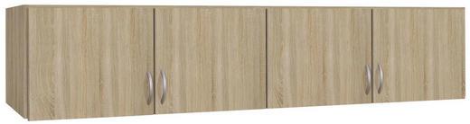 AUFSATZSCHRANK 181/39/54 cm Sonoma Eiche - Silberfarben/Sonoma Eiche, Design, Kunststoff (181/39/54cm) - Carryhome