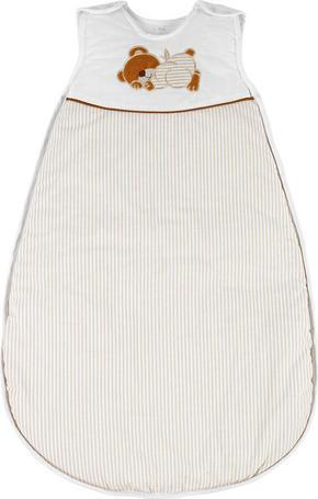 BABYSOVPÅSE - vit/brun, Basics, textil (110cm) - My Baby Lou