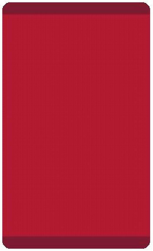 BADTEPPICH  Rot  55/65 cm - Rot, Basics, Kunststoff/Textil (55/65cm)