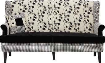 TROSED,  bela, črna les, tekstil - črna/bela, Design, tekstil/les (173/102/86cm) - Carryhome