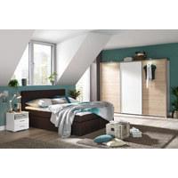 SKŘÍŇ S POSUVNÝMI DVEŘMI, barvy dubu, bílá - bílá/barvy dubu, Design, kompozitní dřevo (270/210/65cm) - Carryhome