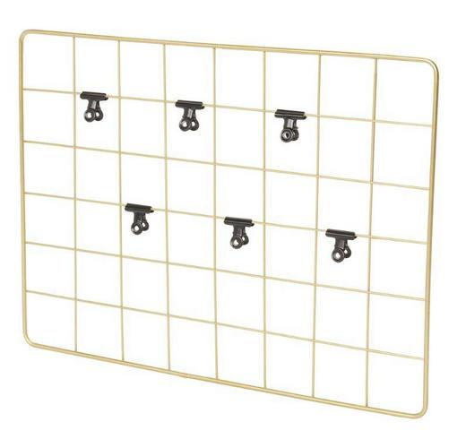 MEMOBOARD - Goldfarben, Design, Metall (45,5/33,5/1,5cm)