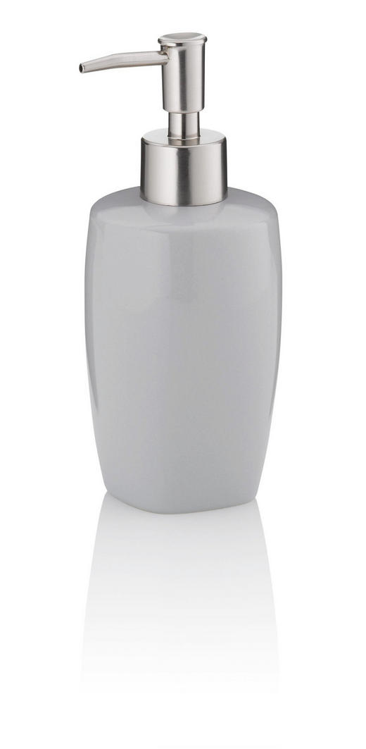 SEIFENSPENDER - Grau, KONVENTIONELL, Keramik (7/18cm)