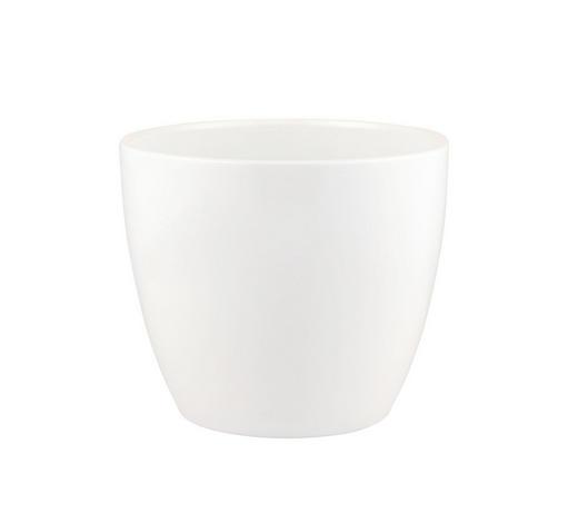 Übertopf Alaska 14 cm - Weiß, Basics, Keramik (14cm)