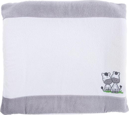 WICKELAUFLAGENBEZUG - Weiß/Grau, Basics, Textil (75/85cm) - MY BABY LOU