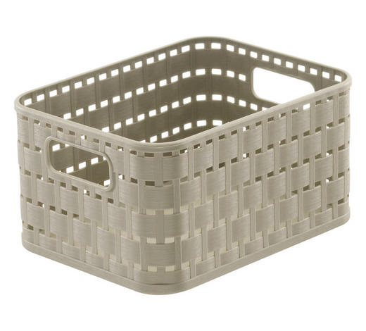 KORB - Beige, Basics, Kunststoff (18,3/13,7/9,8cm) - Rotho