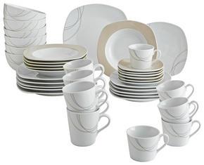 KOMPLETT SERVIS - vit/ljusbrun, Basics, keramik - Ritzenhoff Breker