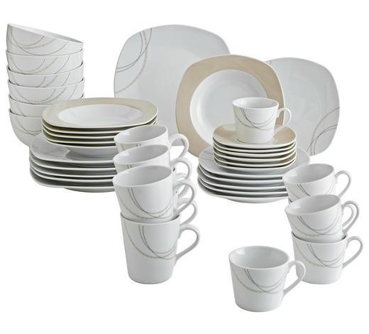 KOMBI SERVIS - bijela/svijetlo smeđa, Basics, keramika - Ritzenhoff Breker