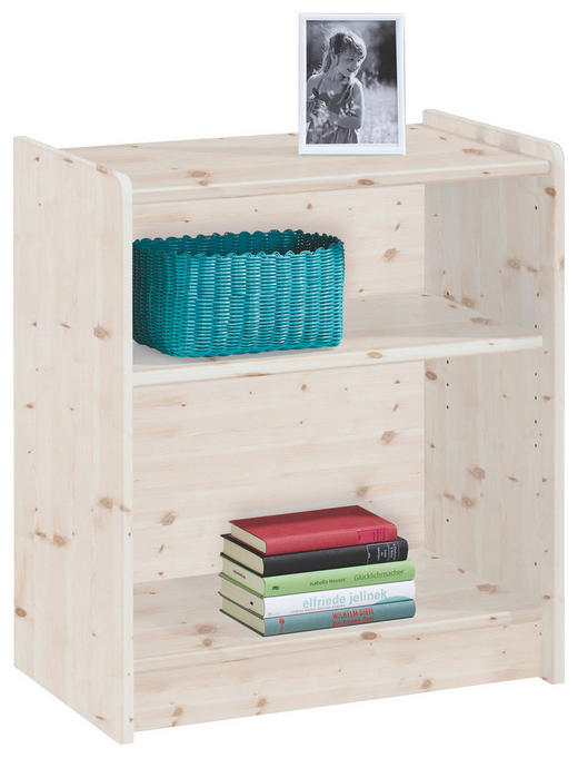 REGAL Kiefer massiv Weiß - Weiß, Design, Holz (64/72/38cm) - Carryhome