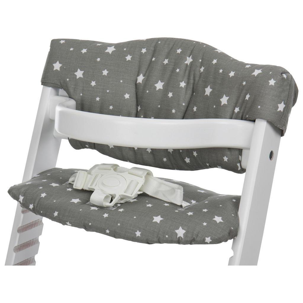 My Baby Lou HOCHSTUHLEINLAGE Grau mit Sterne, Grau | Kinderzimmer > Kinderzimmerstühle > Hochstühle | Grau | Textil | My Baby Lou