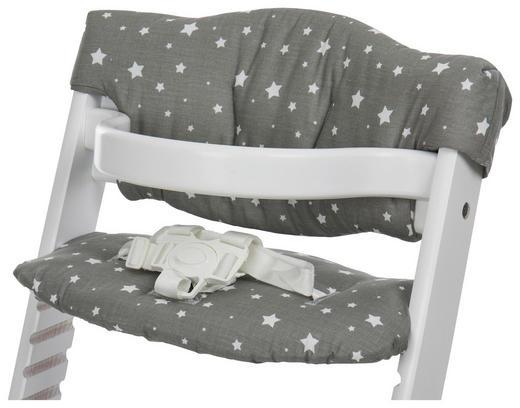 HOCHSTUHLEINLAGE grau mit Sterne - Grau, Basics, Textil - My Baby Lou