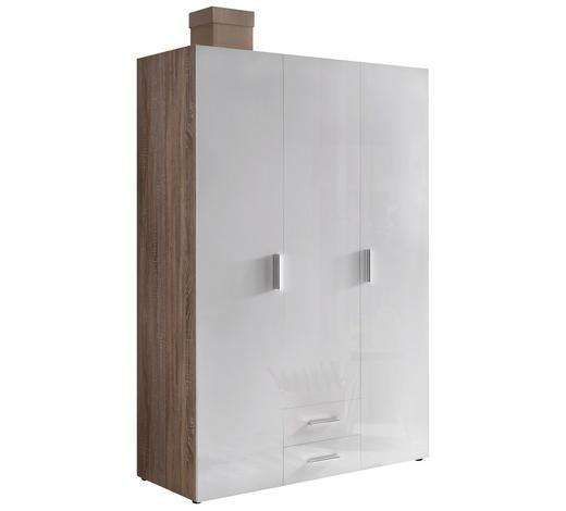 ŠATNÍ SKŘÍŇ, bílá, barvy dubu,  - bílá/barvy dubu, Design, kompozitní dřevo/umělá hmota (120/185/54cm) - Xora