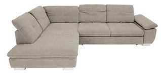 WOHNLANDSCHAFT in Textil Creme - Chromfarben/Creme, Design, Textil (242/313cm) - Xora
