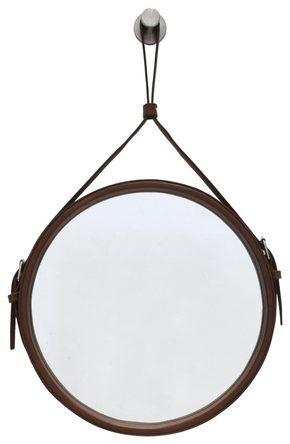 VÄGGSPEGEL - brun, Klassisk, metall/glas (50cm)