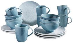KAFFEESERVICE 18-teilig  - Blau/Weiß, LIFESTYLE, Keramik - Landscape