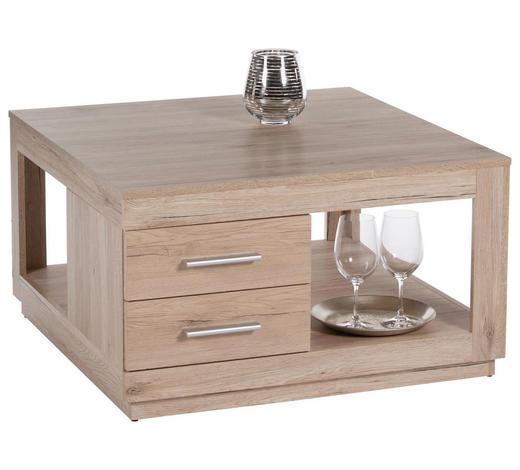 COUCHTISCH in Holzwerkstoff 80/80/45 cm - Eichefarben, Design, Holzwerkstoff (80/80/45cm) - Carryhome