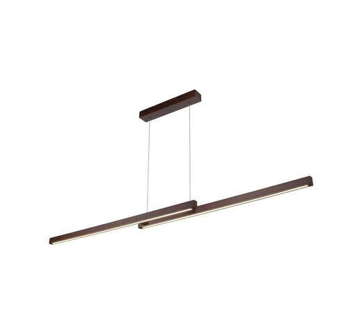 LED-HÄNGELEUCHTE - Braun, LIFESTYLE, Holz/Kunststoff (150/110/10cm)