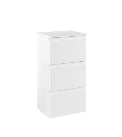 UNTERSCHRANK Weiß - Weiß, Design, Holzwerkstoff (40/79/35cm) - Xora
