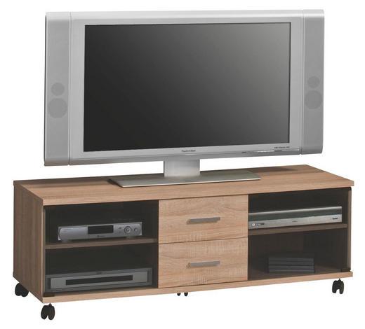 TV-ELEMENT 131/46/45 cm - Silberfarben/Schwarz, Basics, Glas/Holzwerkstoff (131/46/45cm)