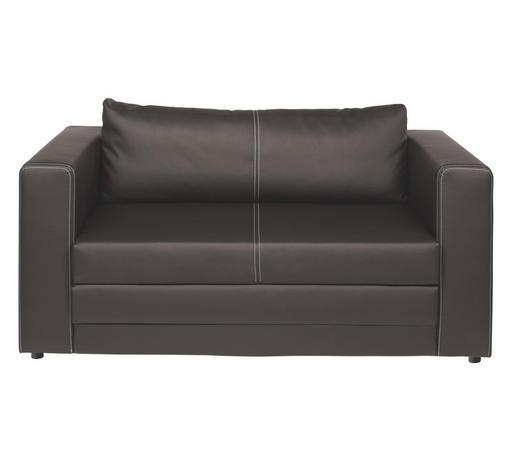 SCHLAFSOFA Lederlook Taupe  - Taupe/Schwarz, Design, Kunststoff/Textil (150/78/70cm) - Carryhome