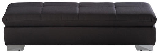 HOCKER Flachgewebe Dunkelgrau - Chromfarben/Dunkelgrau, Design, Textil (156/41/74cm) - Xora