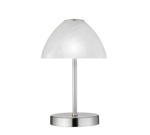 LED-TISCHLEUCHTE   - Weiß/Nickelfarben, Design, Glas/Metall (15/24cm) - Novel