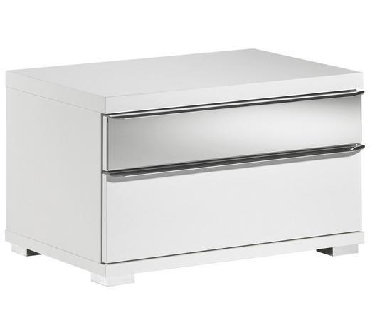 NACHTKÄSTCHEN in Weiß  - Weiß, Design, Glas/Holzwerkstoff (58/35/40cm) - Moderano
