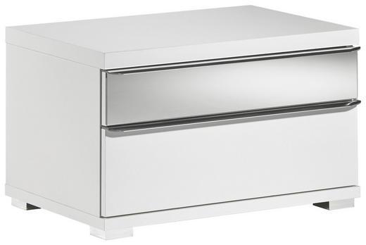 NACHTKÄSTCHEN Weiß - Weiß, Design, Glas (58/35/40cm) - Moderano