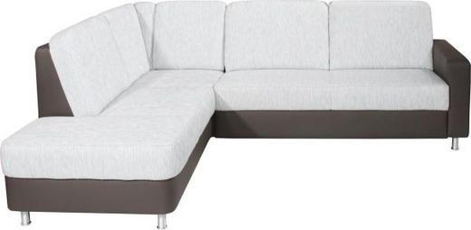 WOHNLANDSCHAFT in Textil Grau - Alufarben/Grau, KONVENTIONELL, Textil/Metall (200/245cm) - Xora