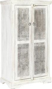 SKÅP - vit/svart, Trend, metall/trä (80/145/45cm) - Ambia Home