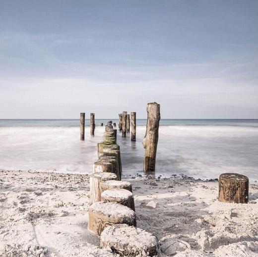 Landschaft & Natur, Strand & Meer GLASBILD - Multicolor, Basics, Glas (20/20/1,7cm) - Eurographics