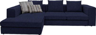 WOHNLANDSCHAFT in Textil Blau  - Blau/Schwarz, Design, Kunststoff/Textil (194/304cm) - Dieter Knoll