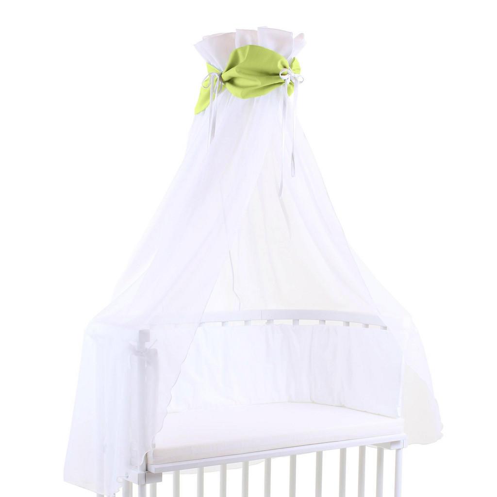 Himmel für Babybetten mit grüner Schleife