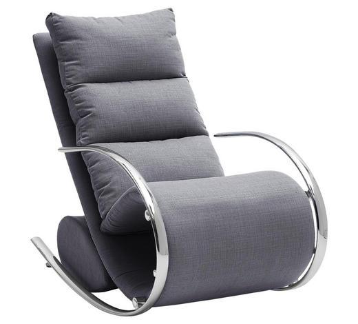 RELAXAČNÍ KŘESLO, kov, textil, kompozitní dřevo, šedá - šedá/barvy chromu, Design, kov/kompozitní dřevo (67/111/102cm) - Xora